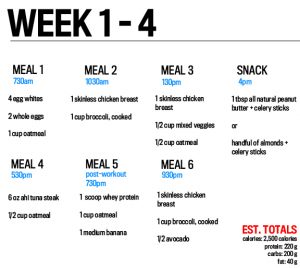 5 day diet with weekend off