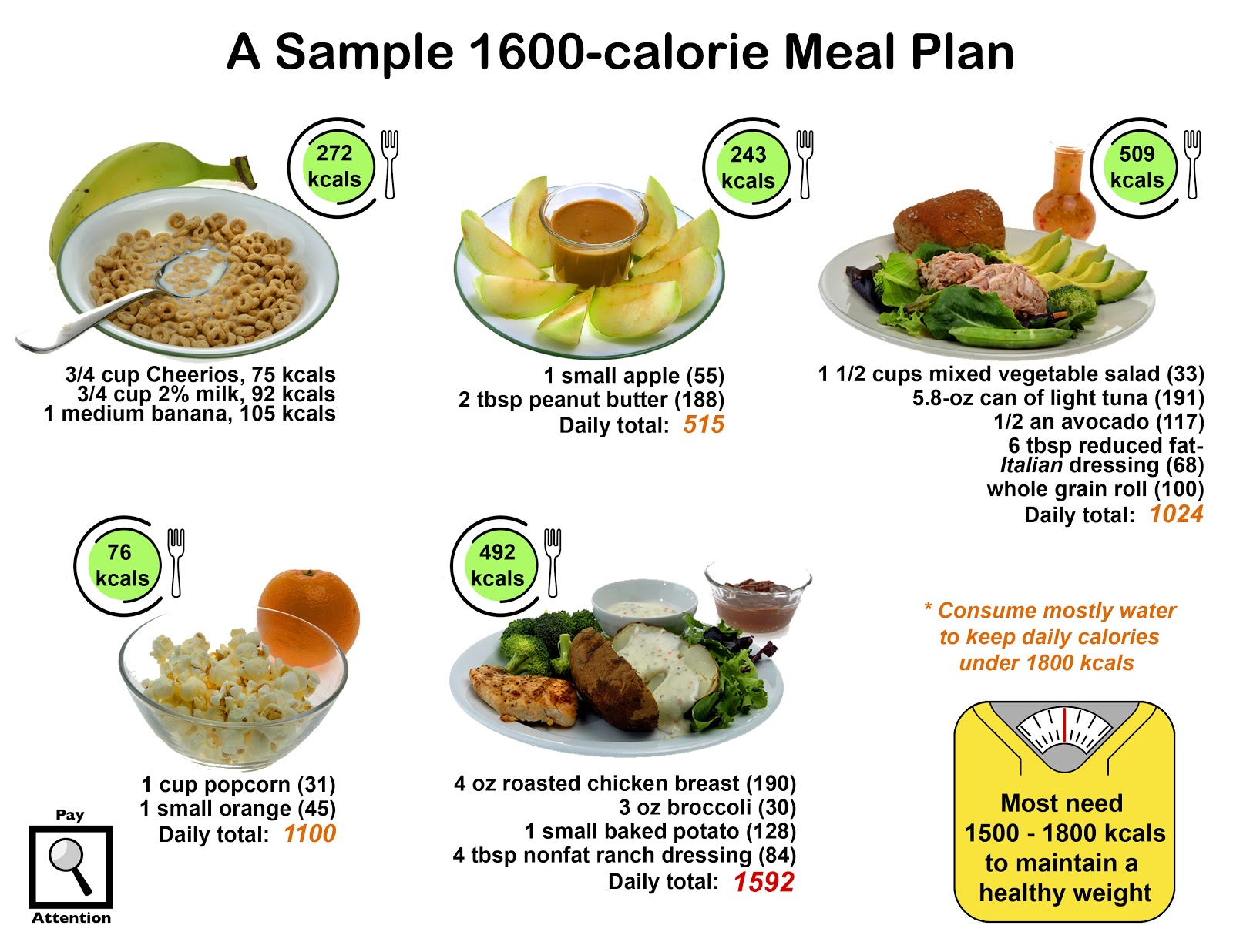 1500 Calorie Diabetic Diet, Basic