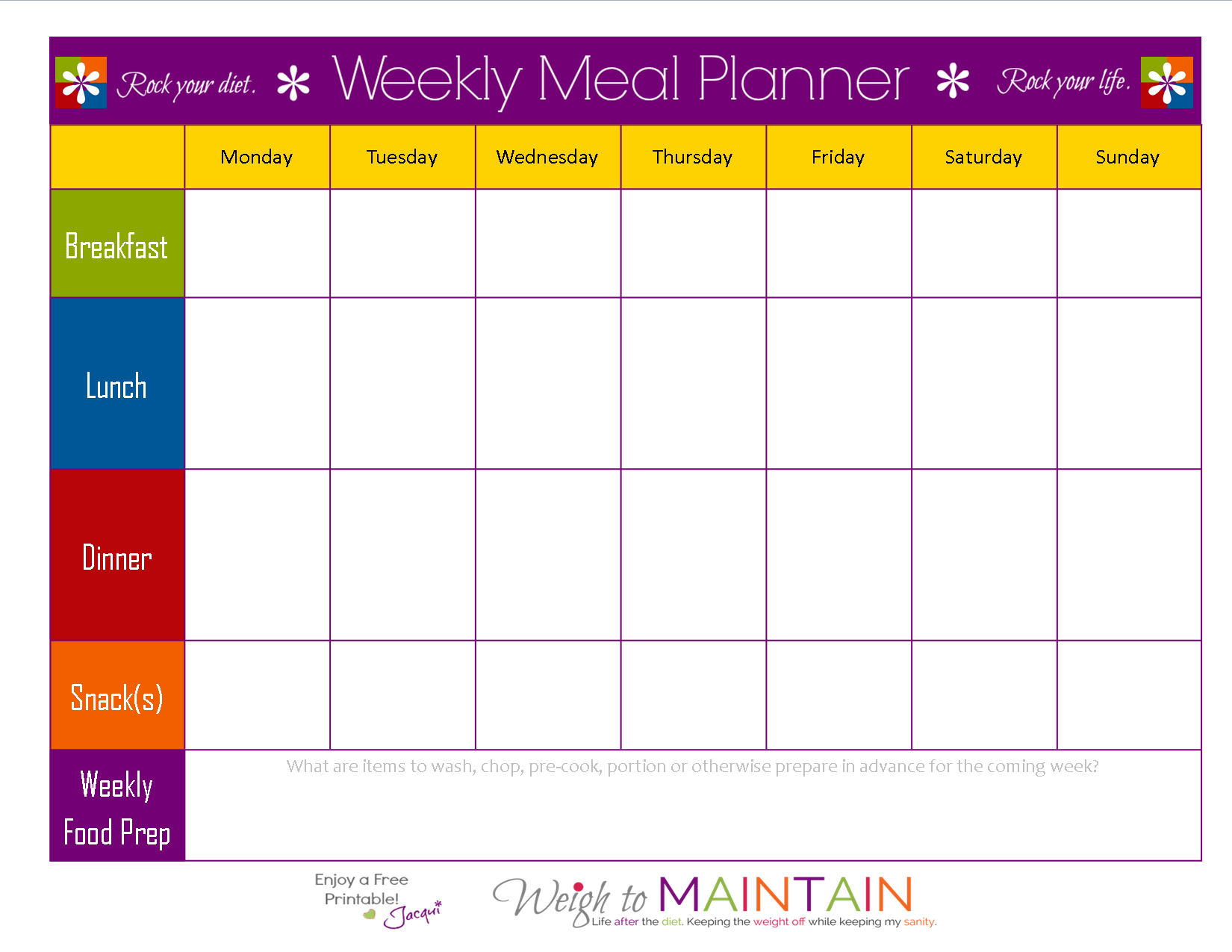 Meal Planning Template Pasoevolistco - Monthly lesson plan template free