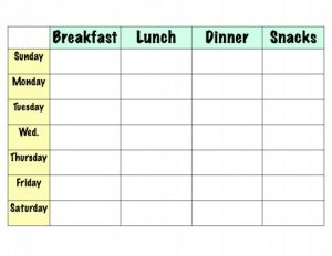 Meal plans to lose weight in 2 months