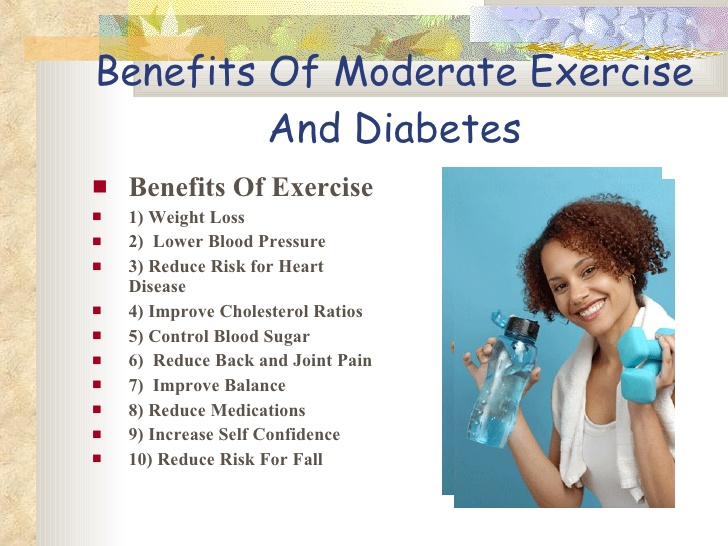 exercise for diabetes Diabetes exercise - diabetics should increase daily physical activity or regular exercise, helps lower sugar level, improve physically as well as mentally.