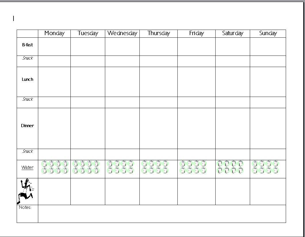 meal planning sheet