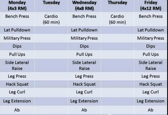 Best Workout To Lose Weight And Get Shredded Schedule