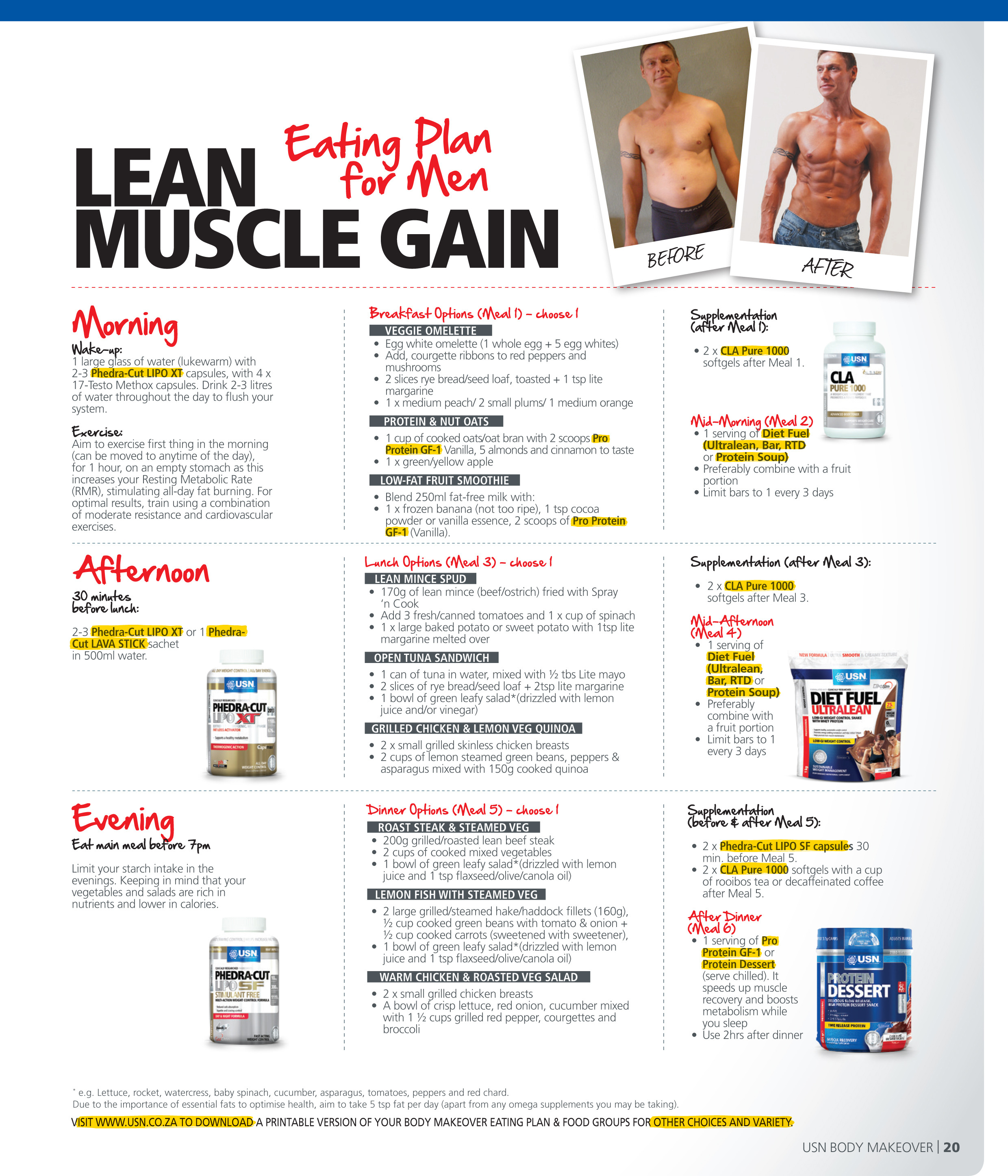 Diet And Exercise Plan To Gain Lean Muscle – Diet Plan