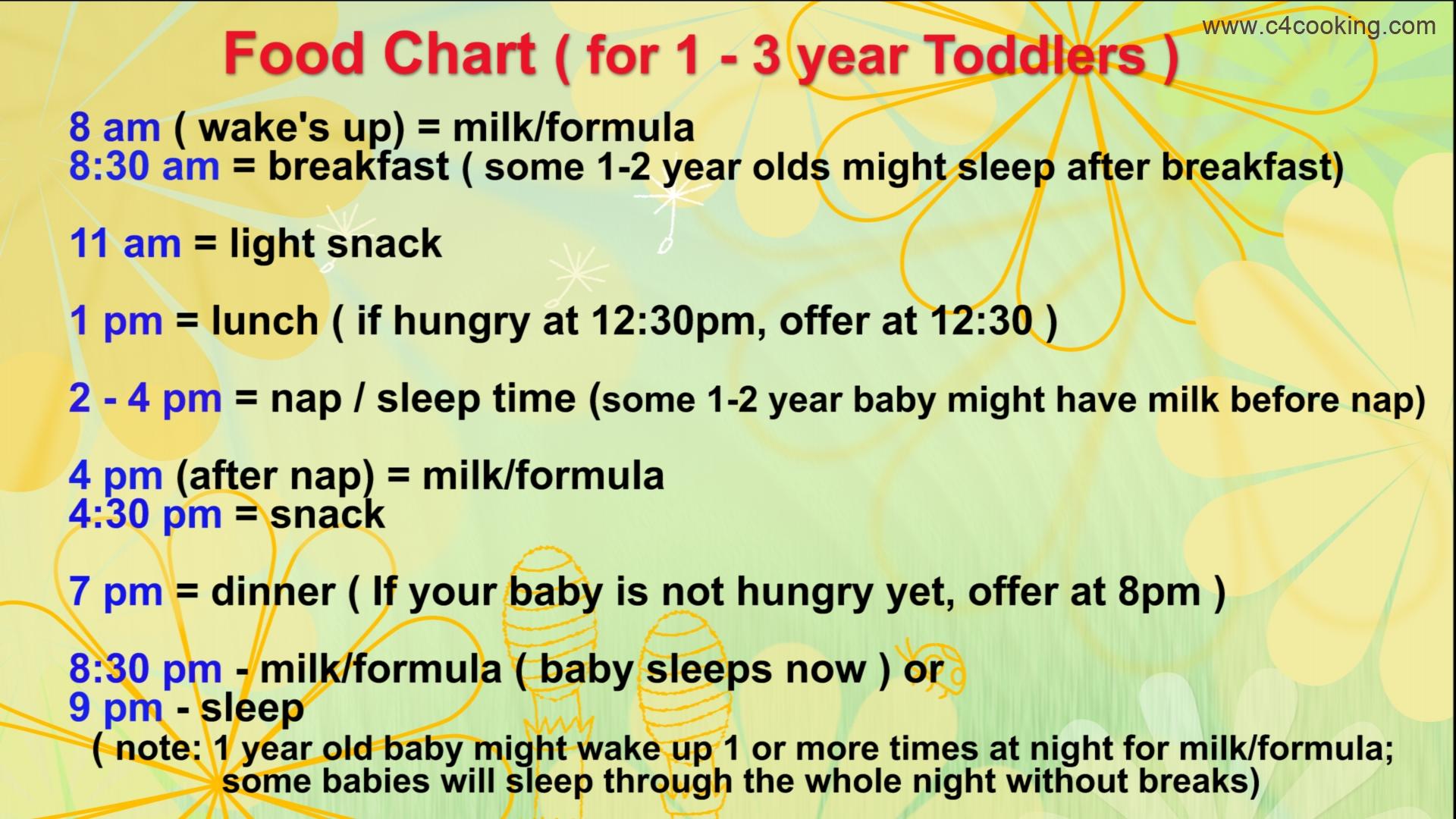 Diet Food For 1 Year Baby - Diet Plan