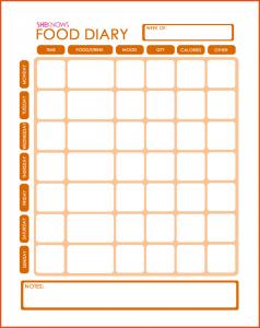 diet journal template