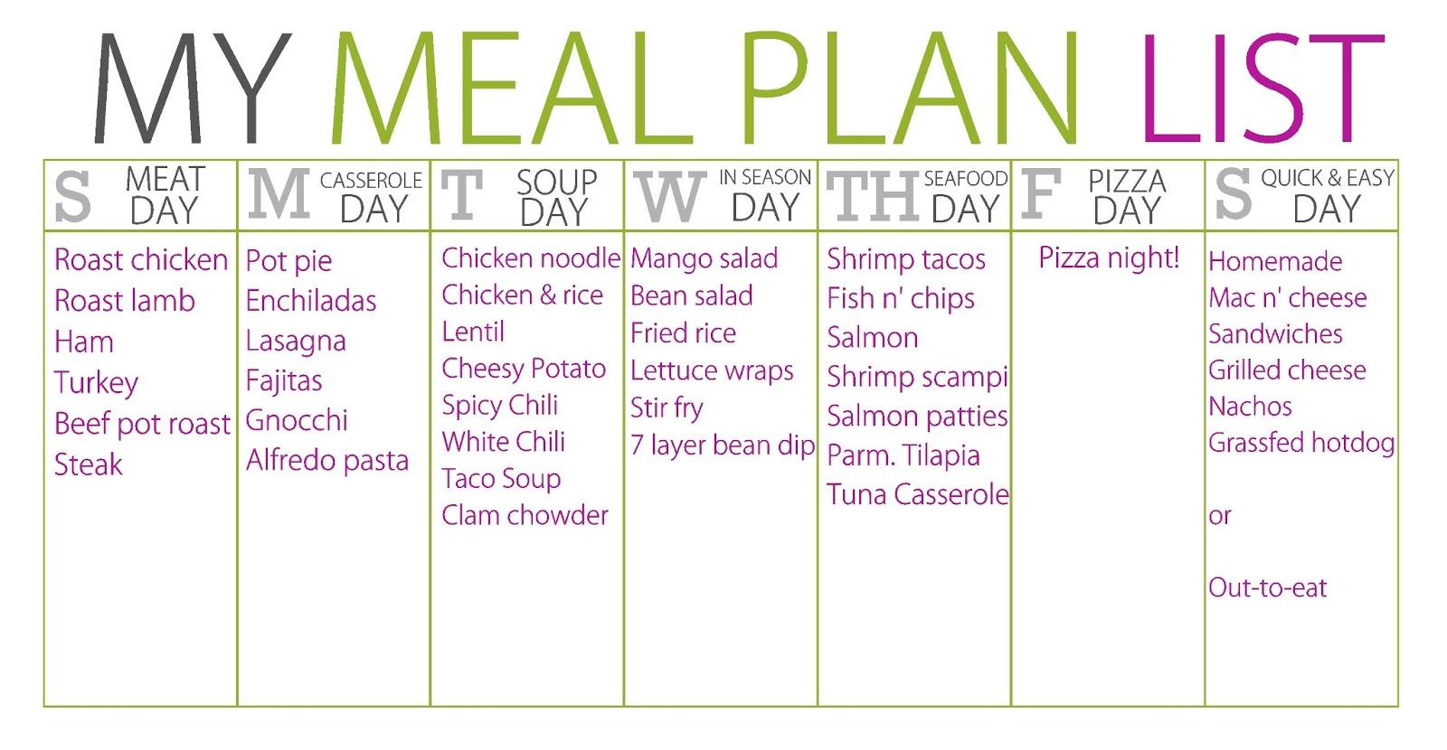 Diet Plan Breakfast Lunch And Dinner
