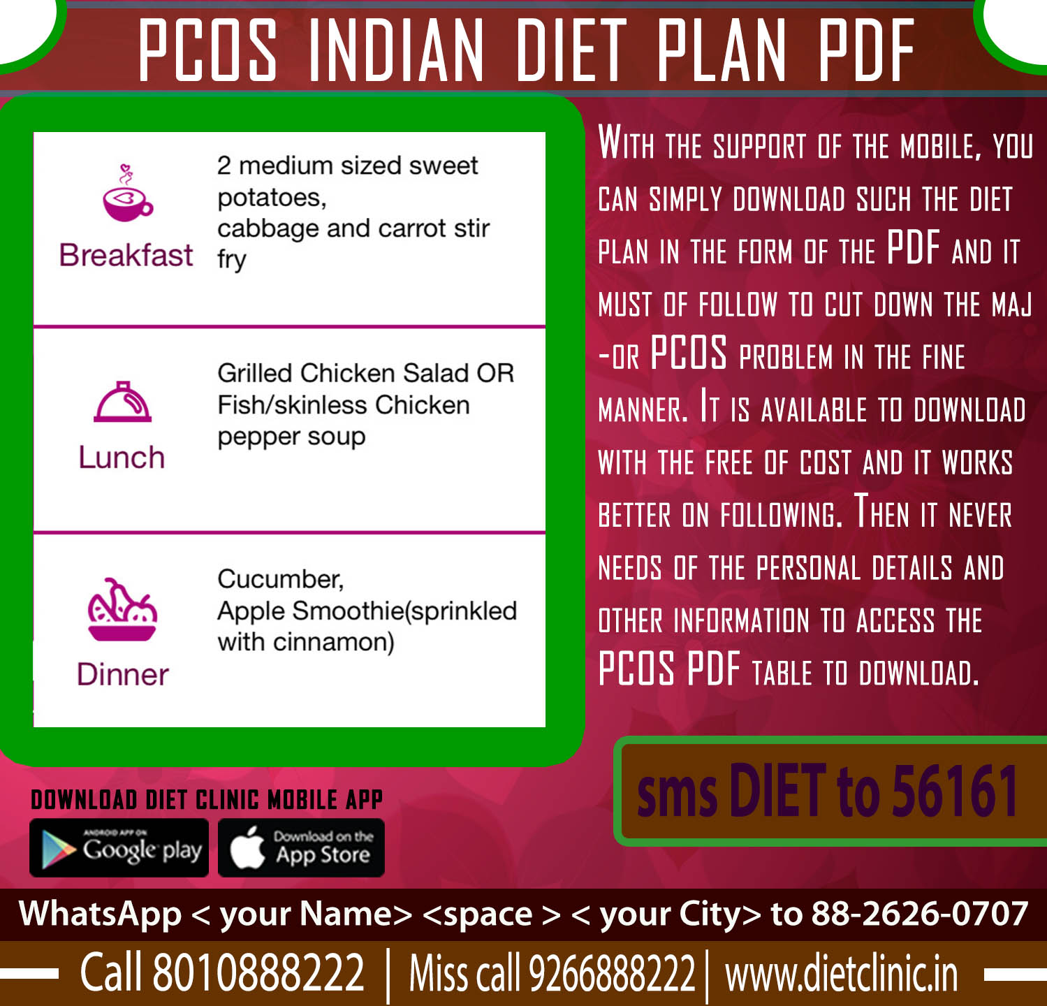 Diet Plan For Weight Loss Pcos - Diet Plan