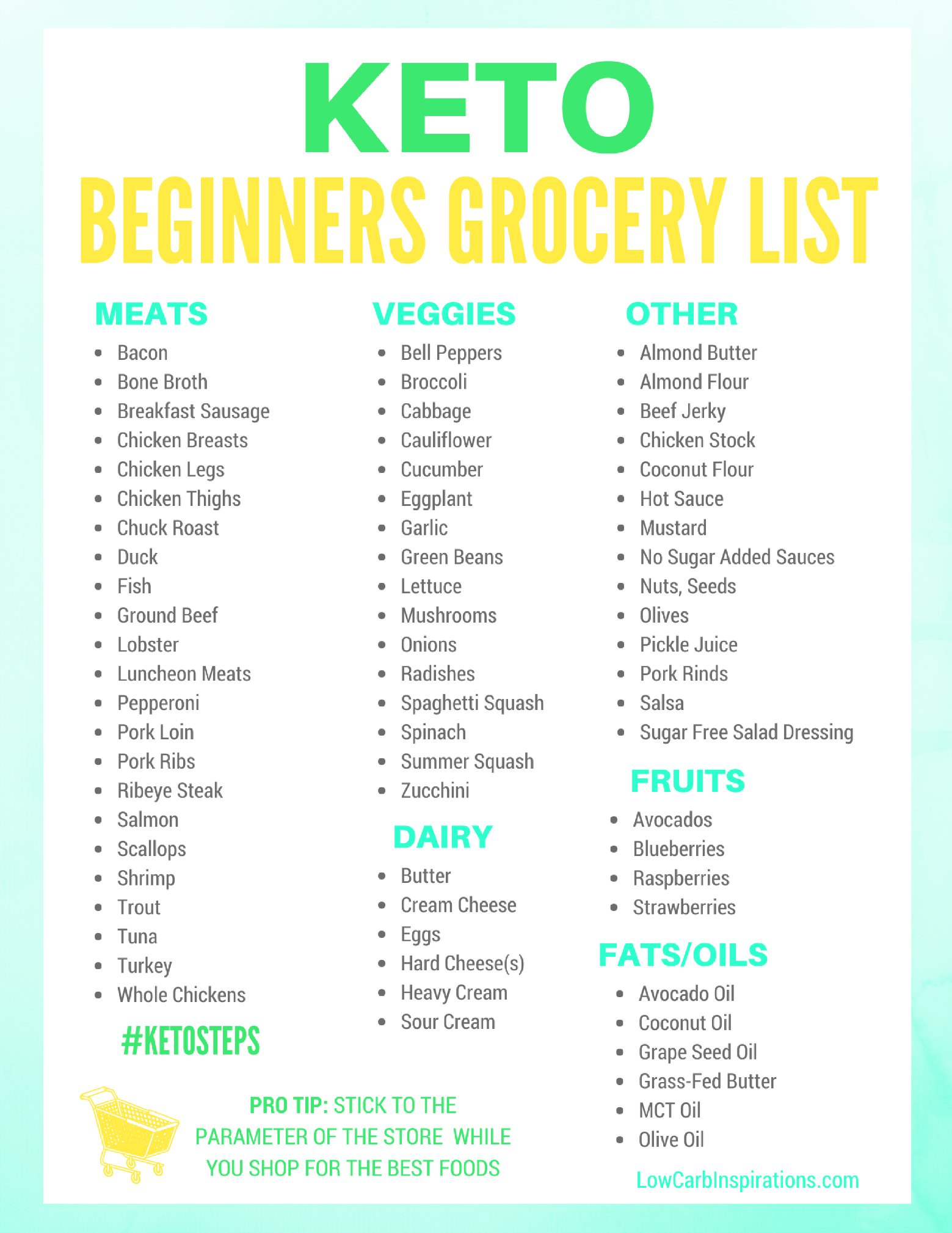 Atkins Diet Meal Plan And Shopping List